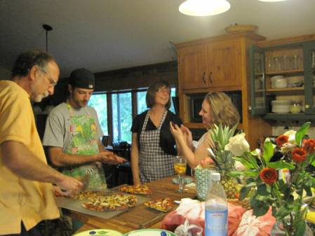 making pizza together is a wonderful family activity. everyone can customize their own pizzas. The family works together as a team to create something delicious. Family dinner is an essential part of family life. Family dinner prevents drug abuse. Family dinner connects parents with children. Family dinner is essential for teenagers.
