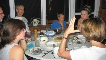 manners, table manners, etiquette, family dinner, conversation skills and consideration all com to a head on Thanksgiving where children show what they have learned all year round. parents can work on manners every day. Family dinner is an excellent venue to teach and model manners on a daily basis. Family dinner is the anti-drug. Regular family dinner correlates to lower rates of drug, alcohol and tobacco use among tweens and teens. Family dinner is worth the time and effort.