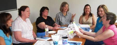 This workshop shows women talking about parenting, how to parent the best way - from a positive attitude. We take the time to reflect on how we discipline our children, tweens, teens, preschoolers and toddlers in the Boston, AYer, Chelmsford, Westford, CArlisle, Acton, Dracut, Bedford area. We come together to plan strategies so we act, don't yak. These women are meeting in CHelmsford, near Westford and ACton, Massachusetts.