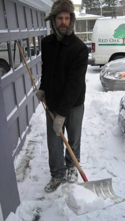 Here Ian is shovelling snow, an excellent activity for a 20-something who lives at home. Adults who live at home can be expected to pitch in. Use family meetings to stay in contact, set expectations and encourage each other. Mutual respect is key to discipline for teens, tweens, school age and toddlers